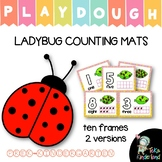 Spring Activities: Ladybug Play Dough Counting Mats for PreK & Kindergarten