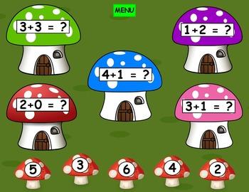 Addition Kindergarten or First Grade PowerPoint Game