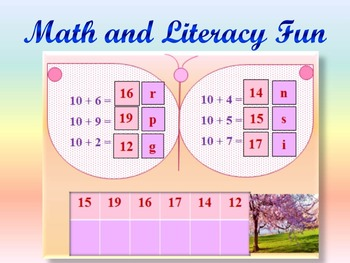 Math and Literacy Fun - Butterflies - Addition - Subtraction - Interactive