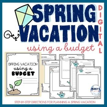 Budgeting Activity Spring- Digital 4th grade, 5th grade & 6th grade PBL Project