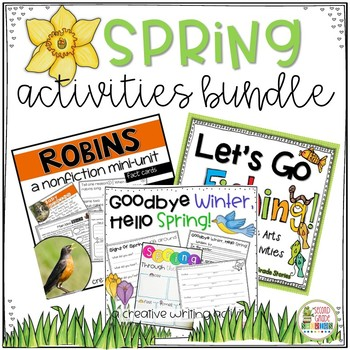 Spring Activities - Robins, Fishing and Spring Bundle