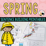 Spring Activities Sentence Building Word Work