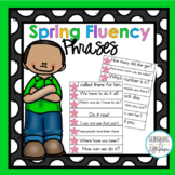Spring Activities Sight Word Fluency Phrases for 1st 100 F