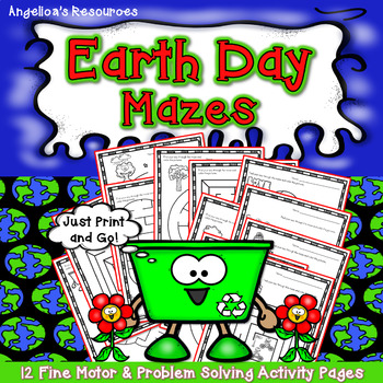 Earth Day Activities : Earth Day Mazes