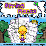 Spring Activities Problem Solving Worksheets Executive Function Skills Printable