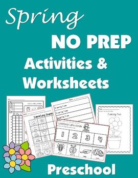 Spring Activities and Worksheets-Preschool