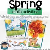 Spring Activities for Math - Preschool Prek, Kindergarten