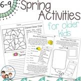 Spring Activities for Older Kids - No Prep