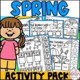 Spring Activities for Preschool (Take Home Packet Preschool) Home Learning