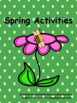 Spring Activities for Upper Grades 3rd & Above