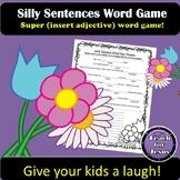 Silly Sentences Spring Word Game   Fun Grammar Game
