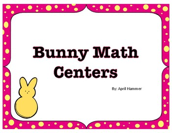 Spring Activity:  Bunny Math Centers: Number Order and Matching Cards
