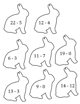 Spring Activity: Egg and Bunny Math Facts Match