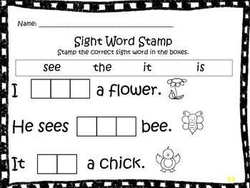 Sight Words for Spring