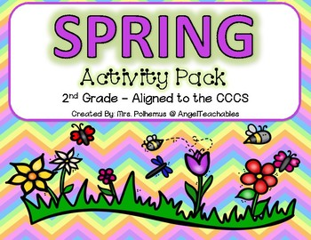 Spring Activity Pack! Aligned with the 2nd Grade CCCS - Everything you need!