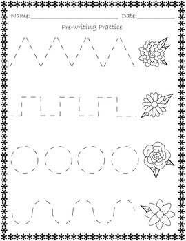 Spring Activity Pack (Counting, identifying, graphing, prewriting practice)
