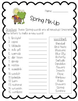 Spring Activity Pack - Math, Literacy, and Writing