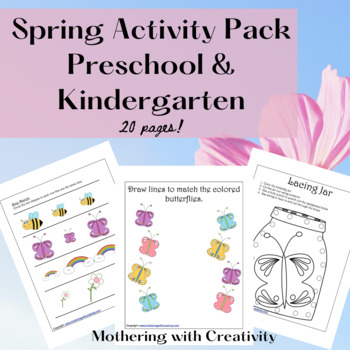 Spring Activity Pack: Preschool and Kindergarten