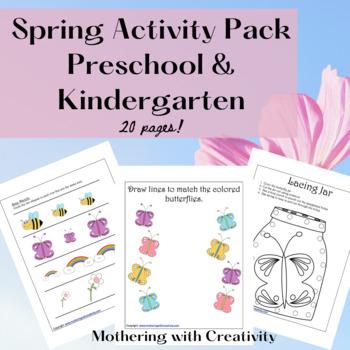 Spring Activity Pack: Preschool and Kindergarten