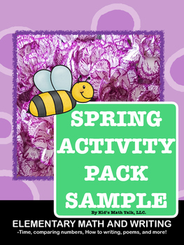 Spring Activity Pack Sample Pages-Telling Time