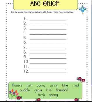 Spring Activity Packet K-2