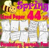 Spring NO PREP Activity Unit Writing Vocabulary Spelling M