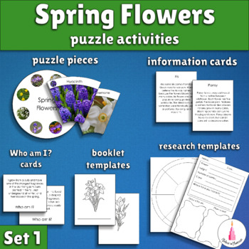 Spring Activity - Spring Flowers Puzzle + Poster