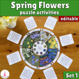 Spring Flowers Puzzle Activity (Editable)