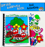 """Spring Adapted Book And Activities:  """"The Crawly Little Ladybug"""""""