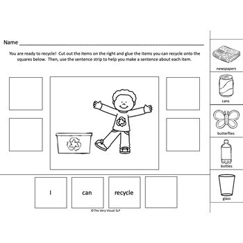 Spring Adapted Book Earth Day Answering WH Questions Speech Language Recycling