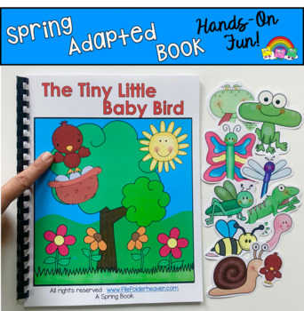 """Spring Adapted Book--""""The Tiny Little Baby Bird""""/Wh Questions"""