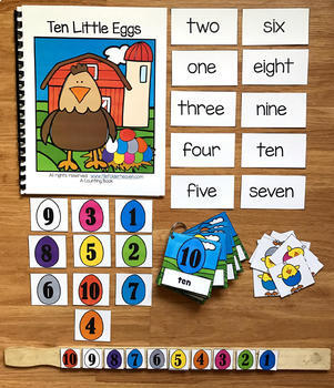 "Spring Adapted Book and Activities:  ""Ten Little Eggs"""