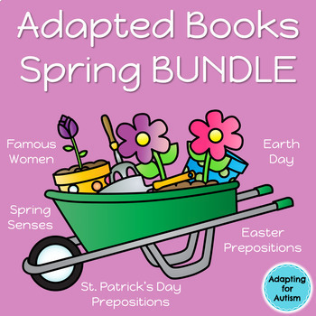 Spring Adapted Books for Special Education and Autism BUNDLE