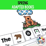 Spring Adapted Books for Special Education Sentence Building Pack