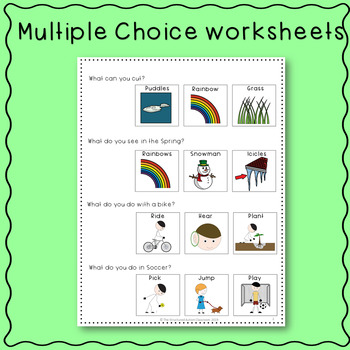 Spring Adapted Books and Worksheets with Core Words for Autism and Special Ed