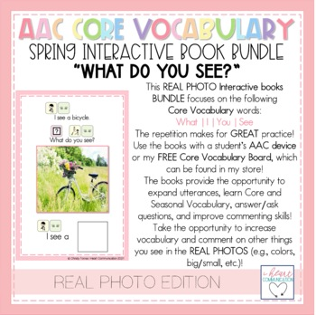 "Spring ""What Do You See?"" Adaptive Interactive Books for Autism - Real Photos"