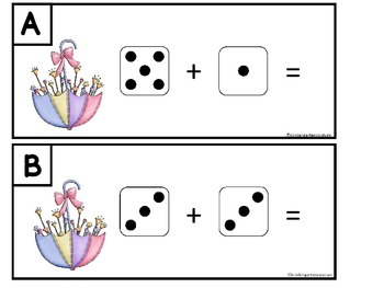 Spring Add The Room -Dice, Add The Room, Subtract The Room, and Puzzles