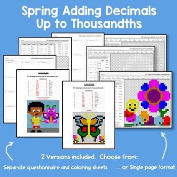 Spring Adding Decimals Up to Thousandths