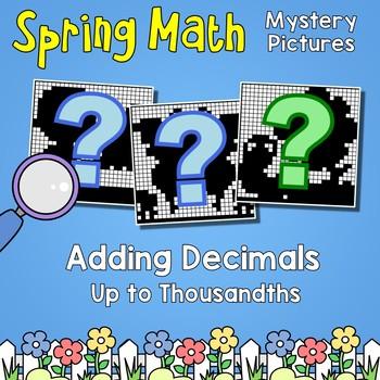 Adding Decimals Thousandths Place Value, Spring Math Worksheets Color By Number