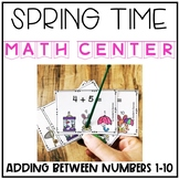 Spring Adding within 1 - 10 Interactive Task Cards