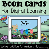 Spring Addition 1-10 Boom Cards for Distance Learning
