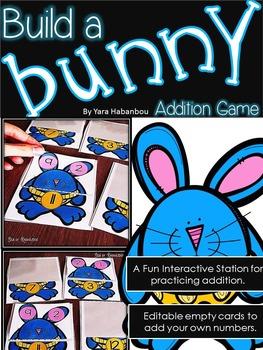 Spring Addition Activity {Build a Bunny}