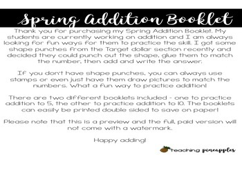 Spring Addition Booklet
