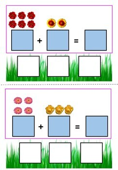 Spring Addition Cards- Interactive Math Activity for Students with Autism