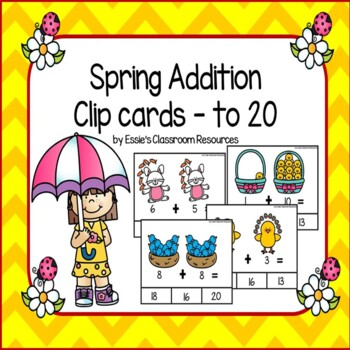 Spring Addition Clip Cards to 20