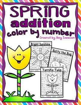 Spring Addition Color by Number