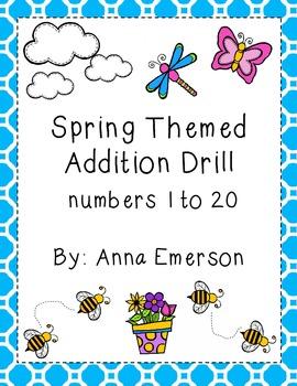 Spring Addition Drills