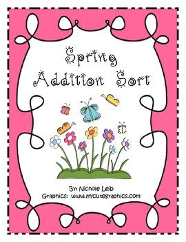 Spring Addition Fact Sort