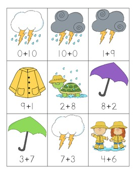 Spring Addition Fact Sort