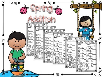 Spring Addition Facts #1-12